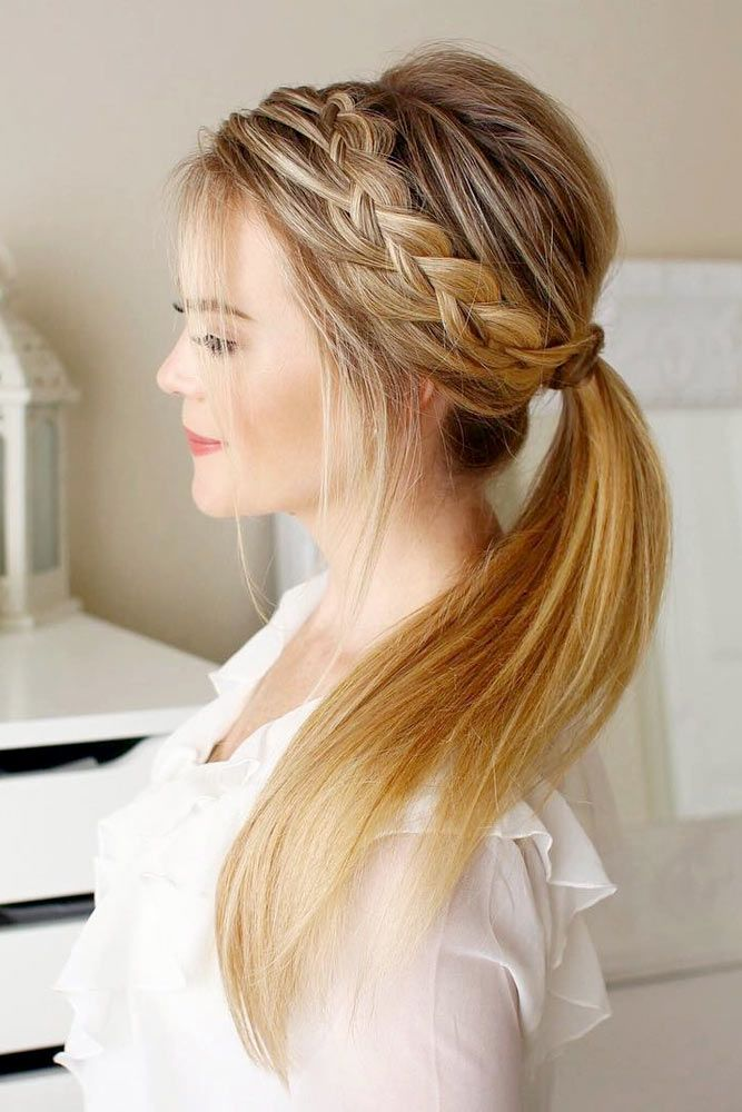 For Pretty teenage braid ponytail Layer Hairstyle