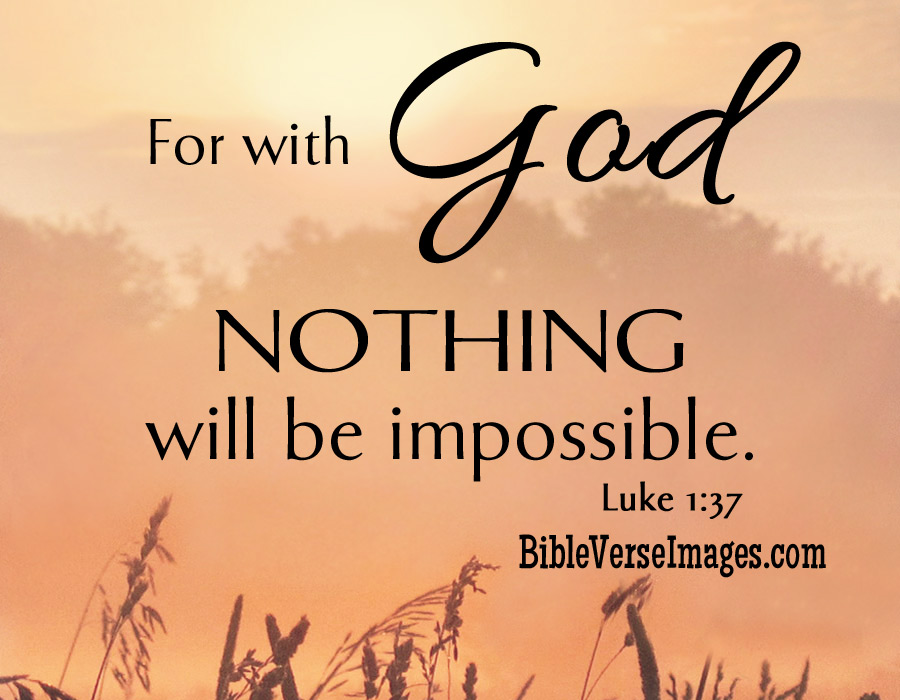 For With God Nothing Bible Quotes