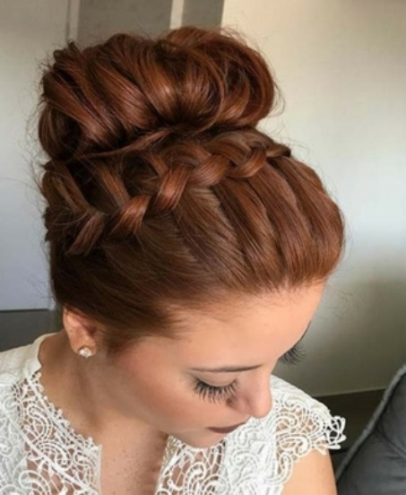 For bride red Bun Hairstyle