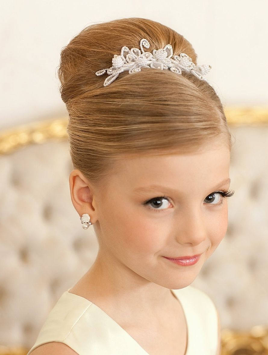 For wedding bun style Kids Hairstyle