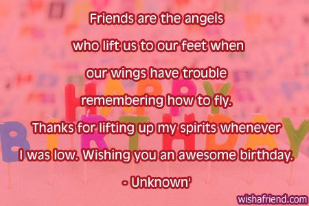 Friends Are The Angels Best Friend Birthday Quotes