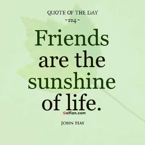 Friends Are The Sunshine Short Best Friend Quotes