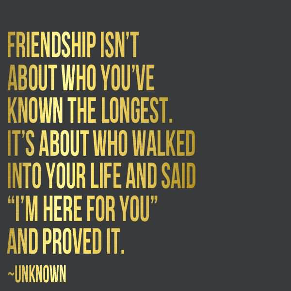 Friendship Isn't About Who True Friendship Quotes