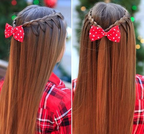 Girlish long hair Braid Hairstyle