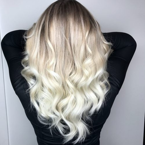 Glorious white shade style Layer Hairstyle