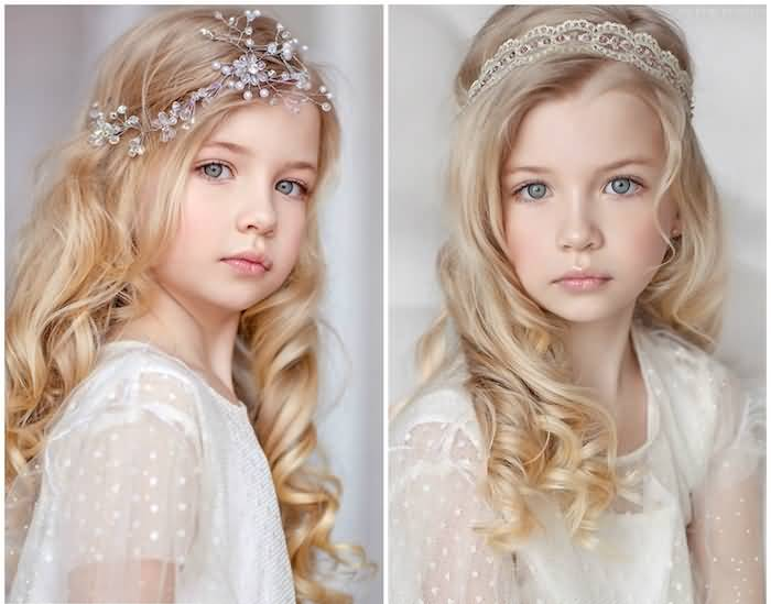 Gorgeous kids style for wedding party Layer Hairstyle