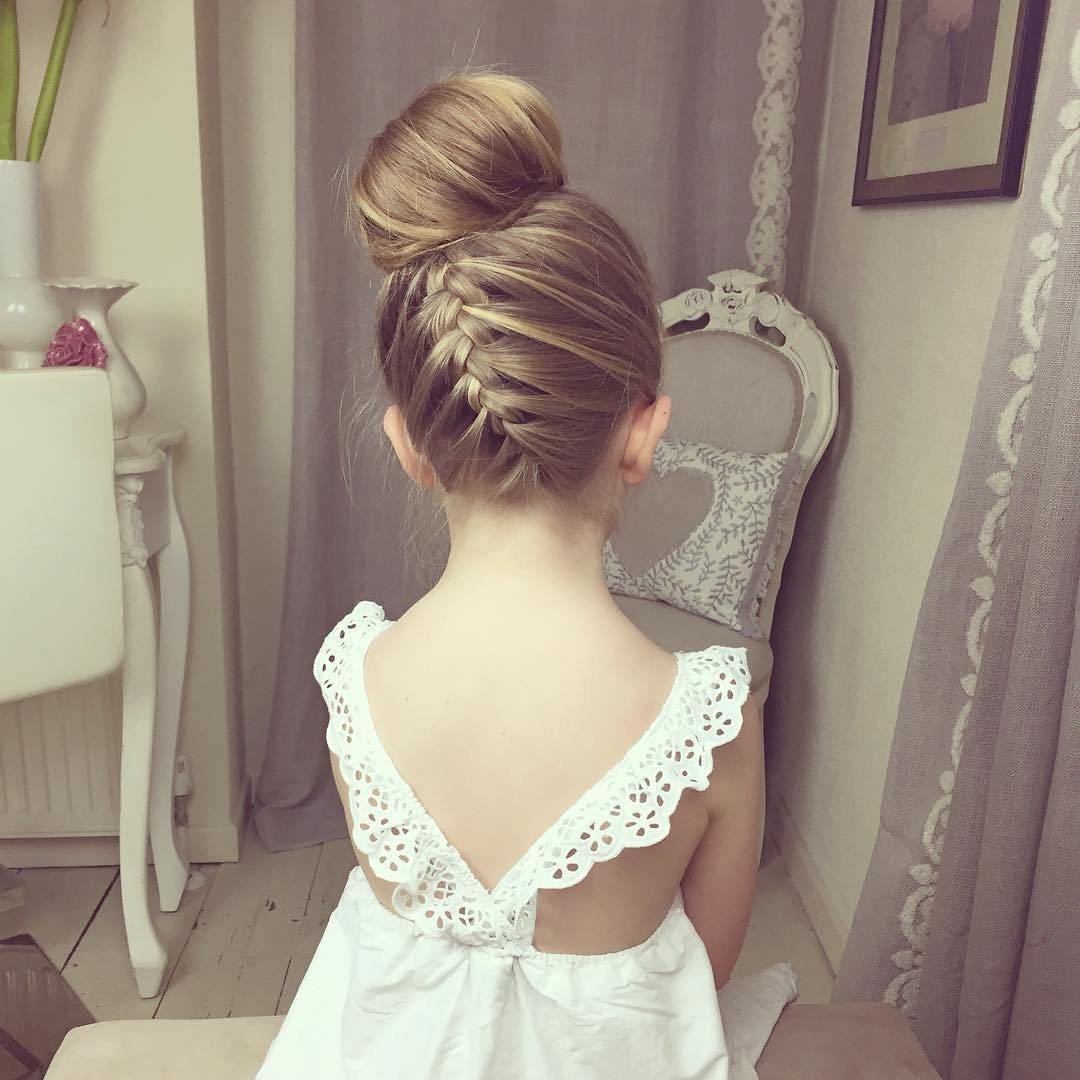 Gorgeous wedding style Kids Hairstyle
