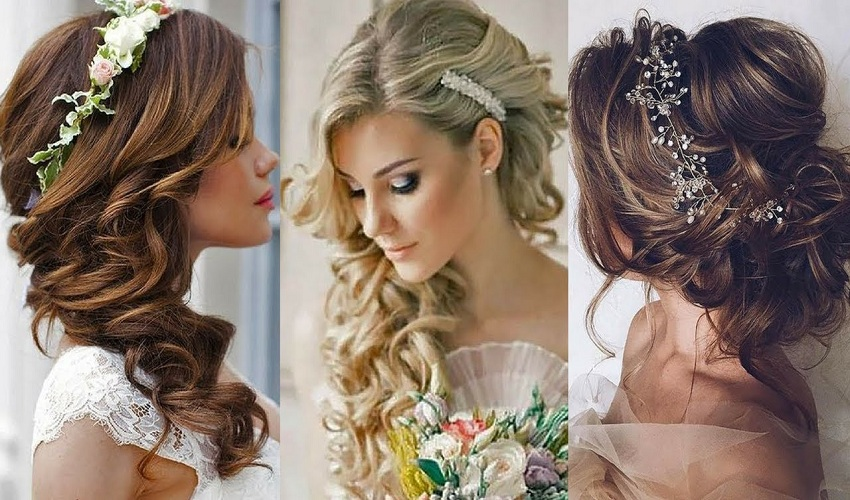 Gorgeous wedding styles specially for bridal Curly Hairstyle