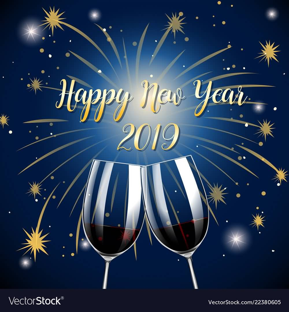 Happy New Year 2019 Wish Greeting