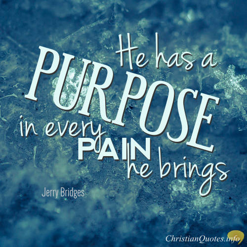 He Has A Purpose Christian Quotes