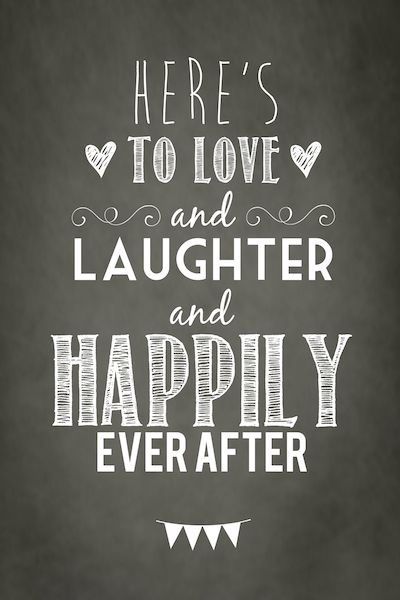Here's To Love And Laughter Anniversary Quotes
