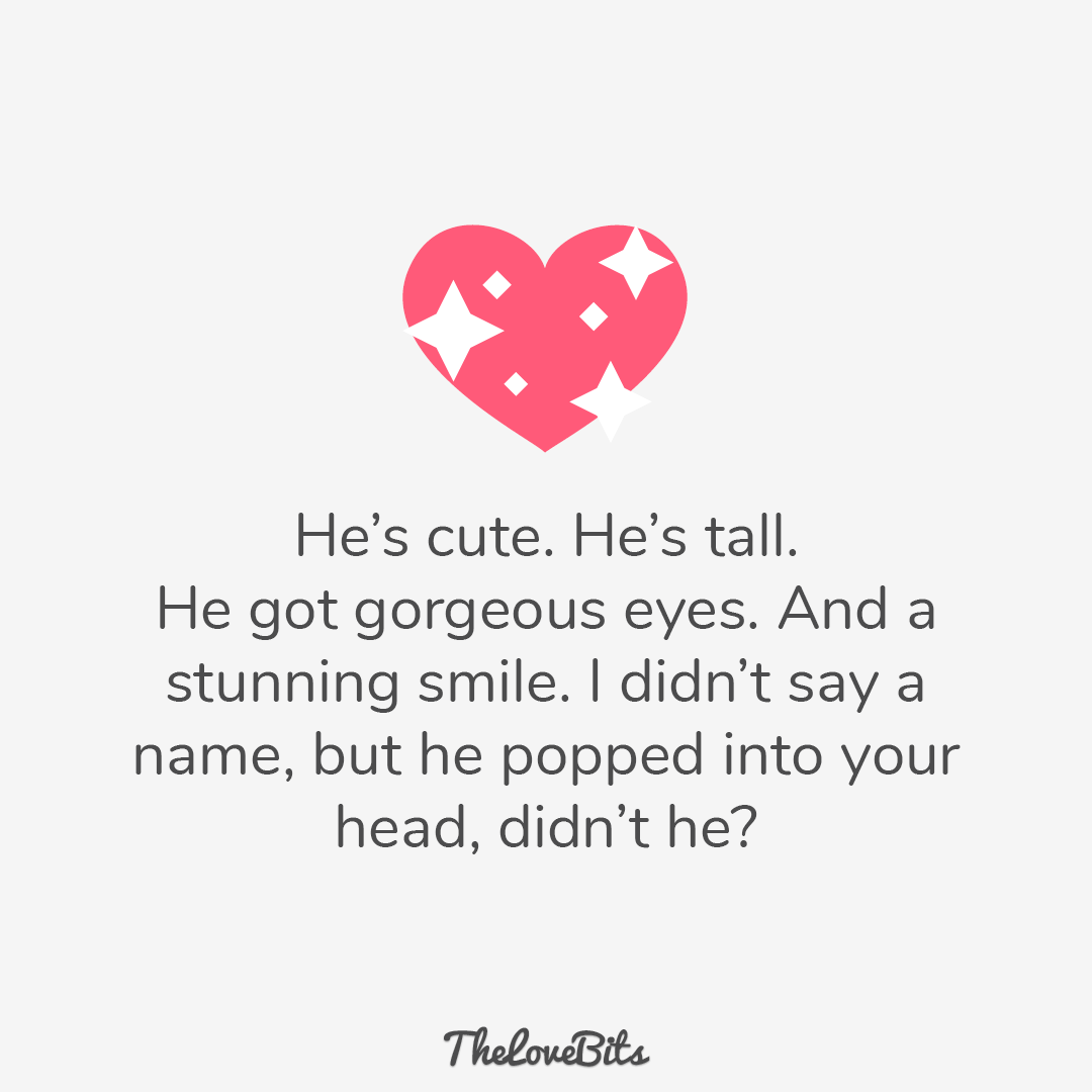 He's Cute He's Tall Crush Quotes