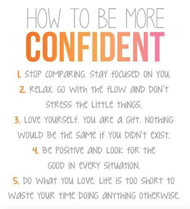 How To Be More Confidence Quotes