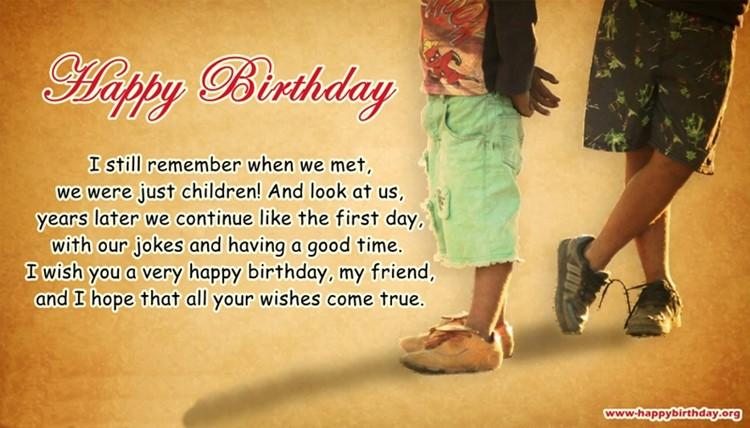 I Still Remember When We Best Friend Birthday Quotes