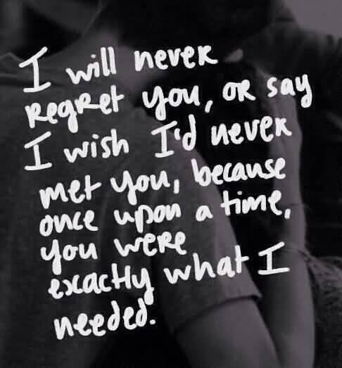 I Will Never Regret Broken Heart Quotes