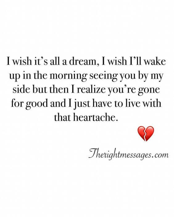I Wish It's All A Dream Broken Heart Quotes