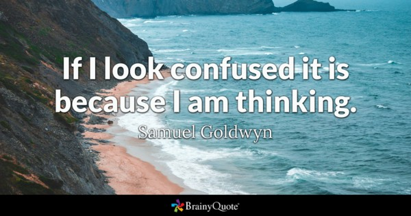 If I Look Confused Confused Quotes