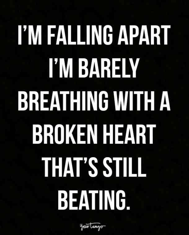 I'm Falling Apart I'm Barely Broken Heart Quotes