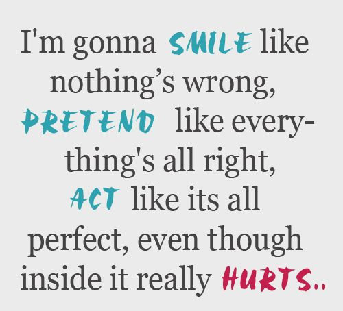 I'm Gonna Smile Like Broken Hearted Quotes
