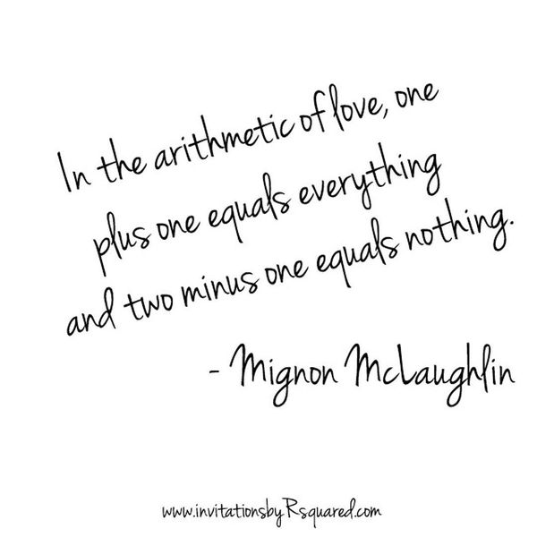 In The Arithmetic Of Love Cute Love Quotes