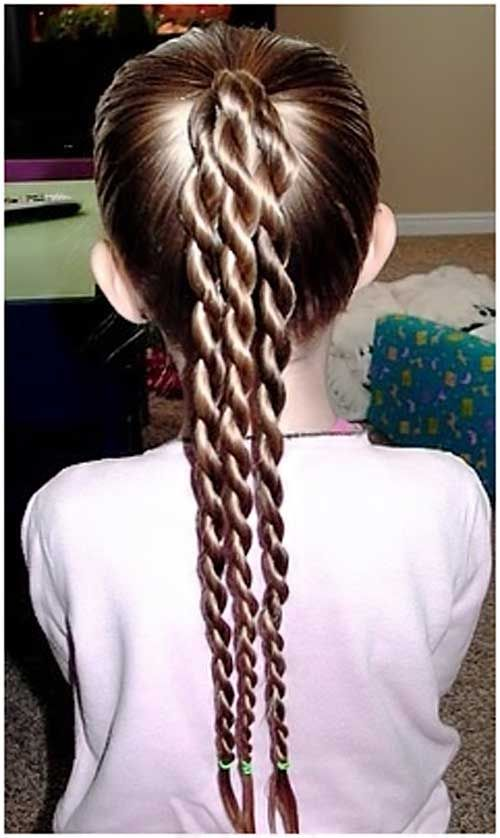 Latest braided long pony style Kids Hairstyle