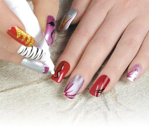 Latest large diff color Contrast nail art