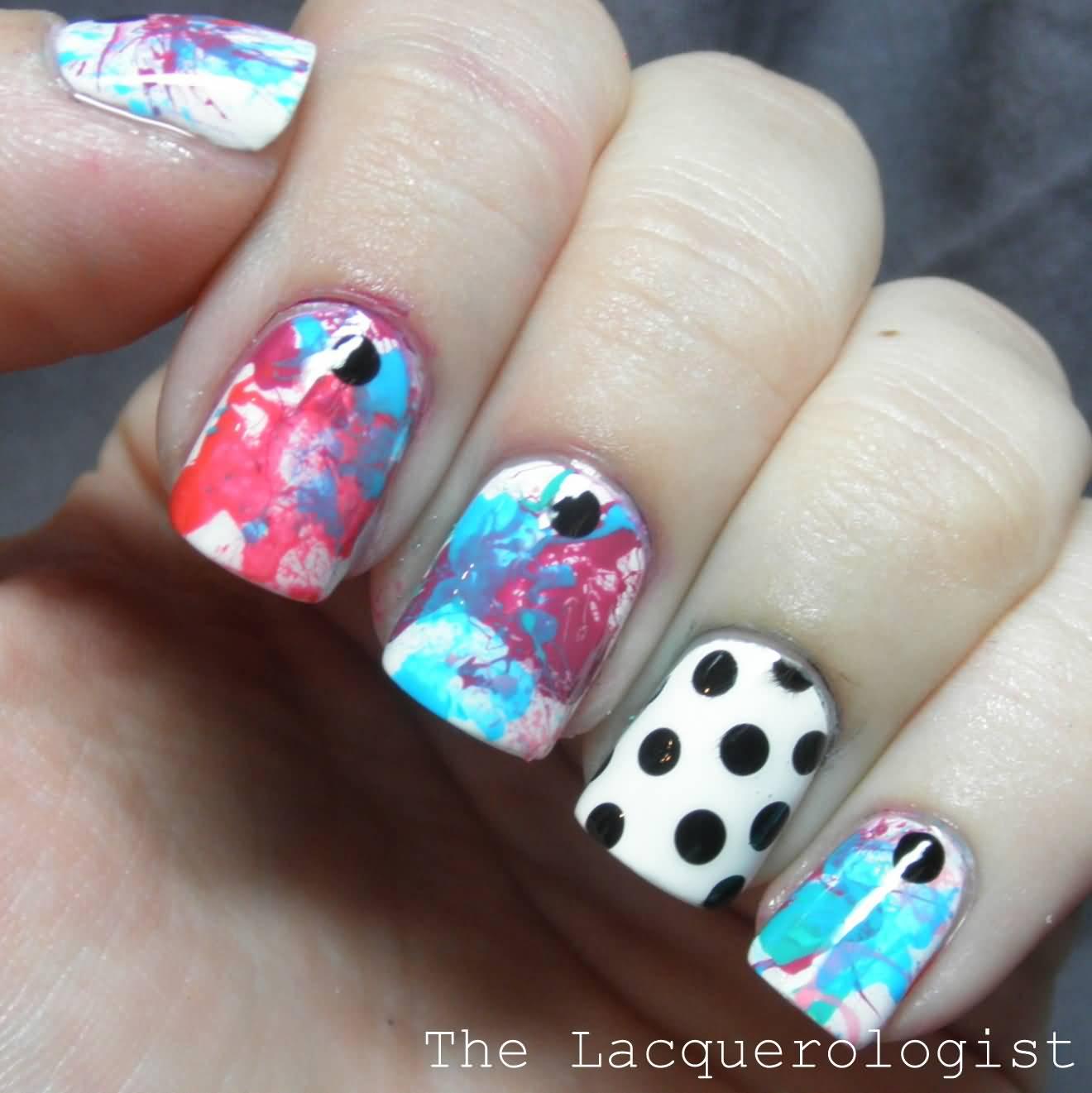 Latest paint & art Contrast nail art