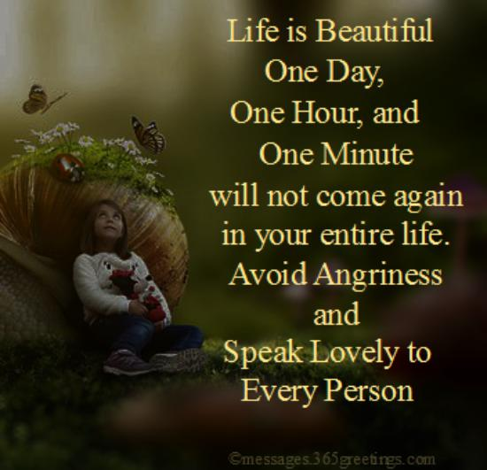 Life Is Beautiful One Beautiful Quotes
