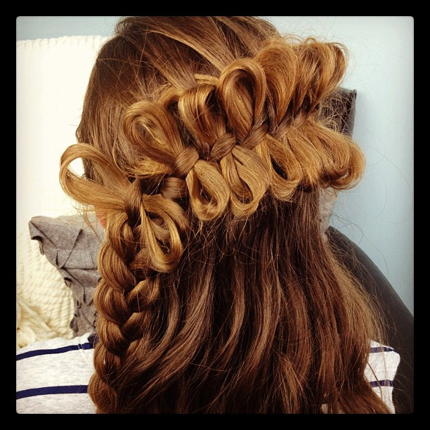 Look special brown Braid Hairstyle