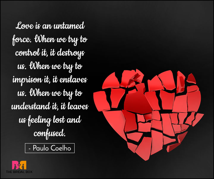 Love Is An Untamed Confused Quotes