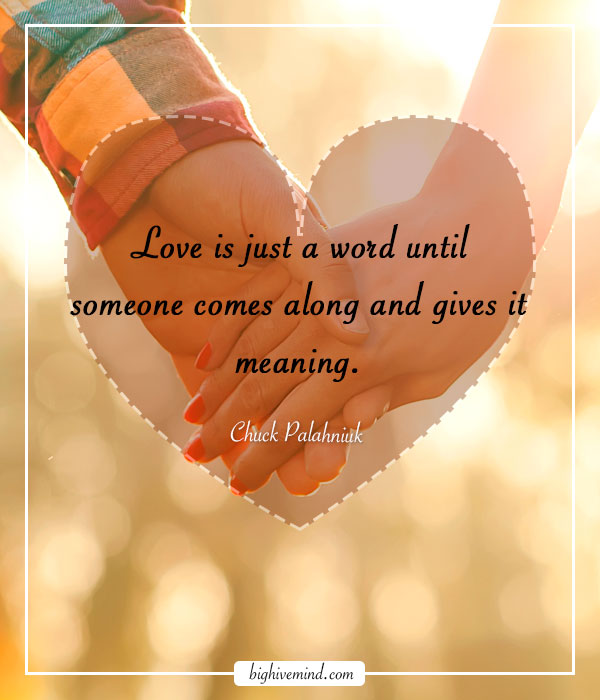 Love Is Just A Word Anniversary Quotes