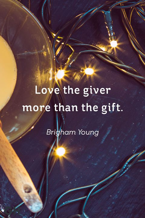 Love The Giver More Than Christmas Quotes