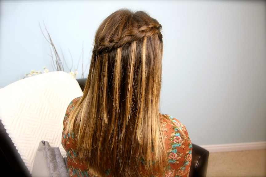 Lovely college girl design Braid Hairstyle