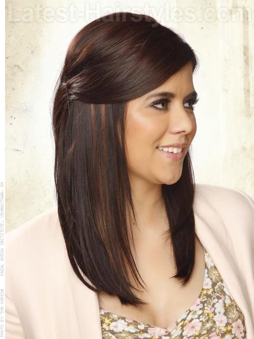 Lovely side pinned straight Casual Hairstyle