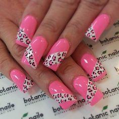 Lovely pink Animal print nail art
