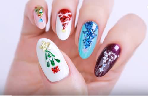 Mind blowing Christmas design Christmas nail art