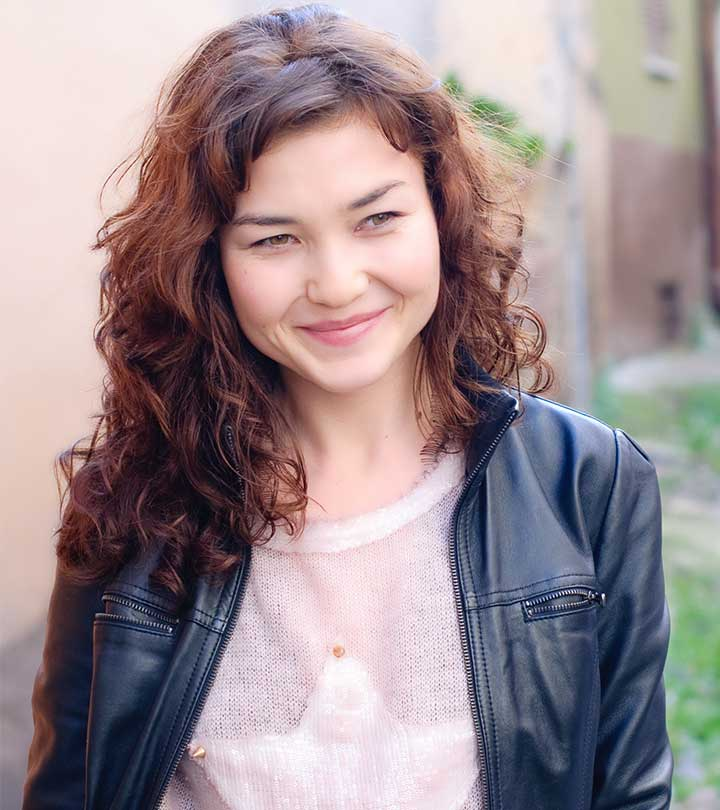 Mind blowing curly round face Casual Hairstyle