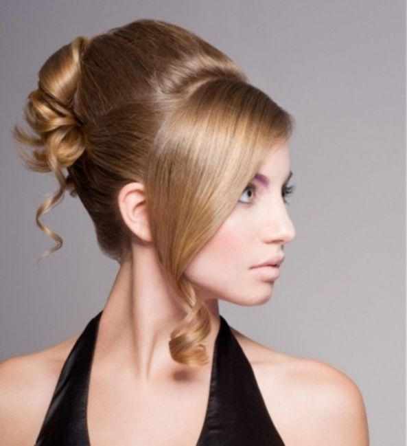 Mind blowing straight curly Bun Hairstyle