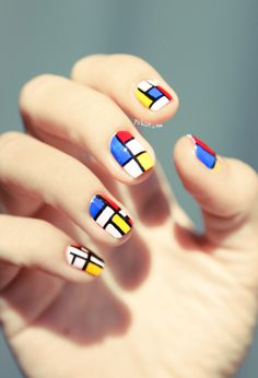 Modern pattern design Tiles nail art