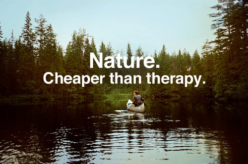 Nature Cheaper Than Therapy Inspirational Nature Quotes and Sayings