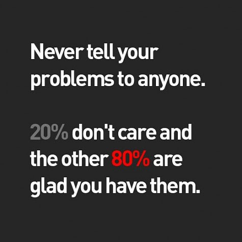 Never Tell Your Problems Best Quotes