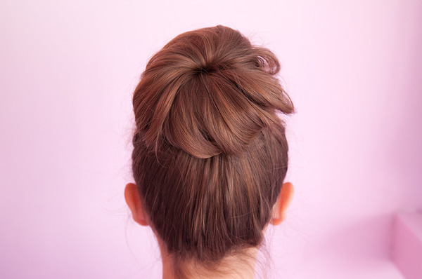 New Stylish cut Bun Hairstyle
