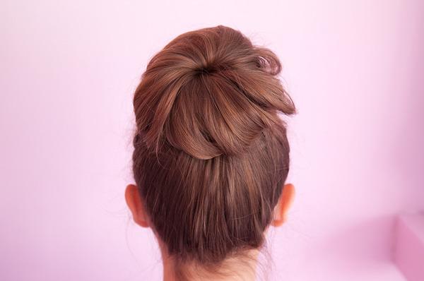 New Stylish cut Bun Hairstyle