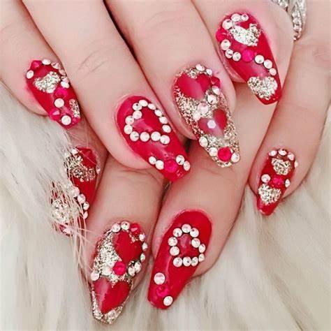 New creation for bridal design Wedding nail art