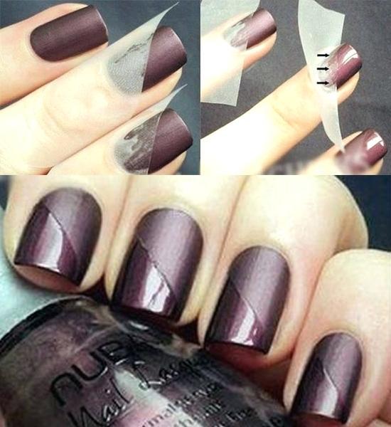 New dark color Contrast nail art