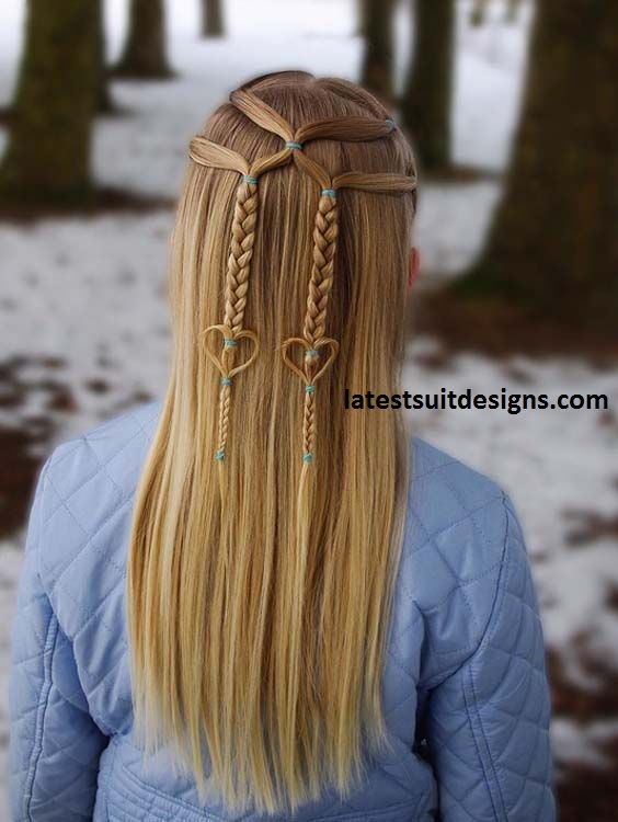 New long hair heart Braid Hairstyle