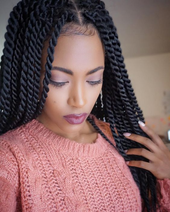 New look black Braid Hairstyle