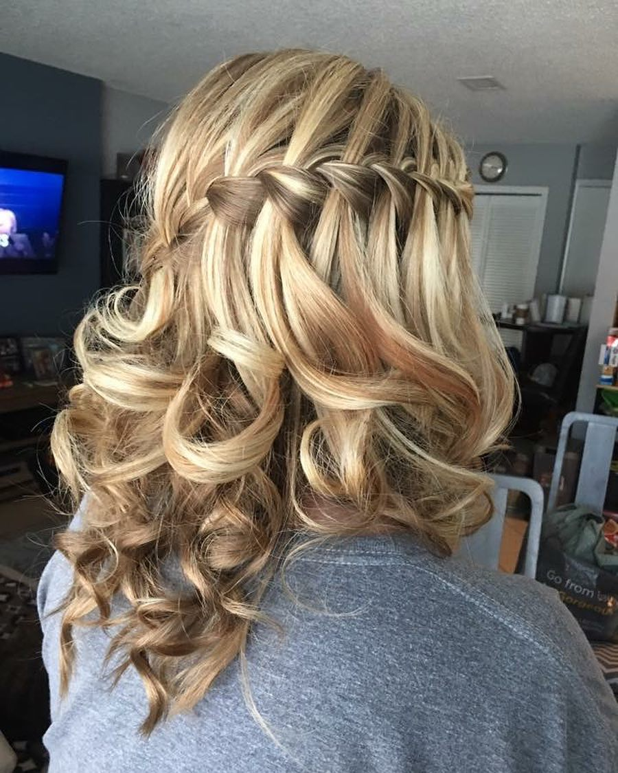 New waterfall braid style Layer Hairstyle
