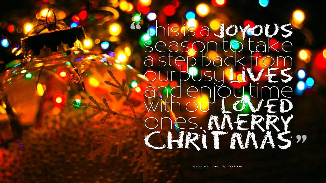Nice Christmas Quote For Family