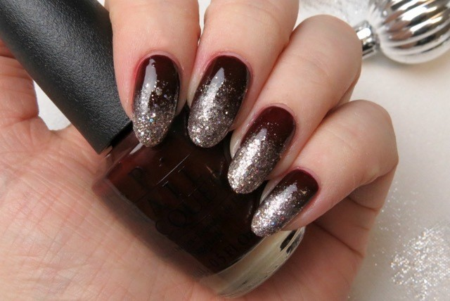 Orignal black Glitter nail art